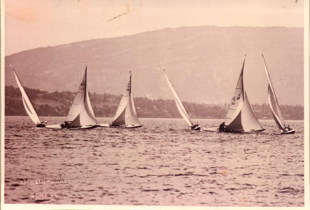 Semaine de la Voile 1953. Foto Archives Copponex.