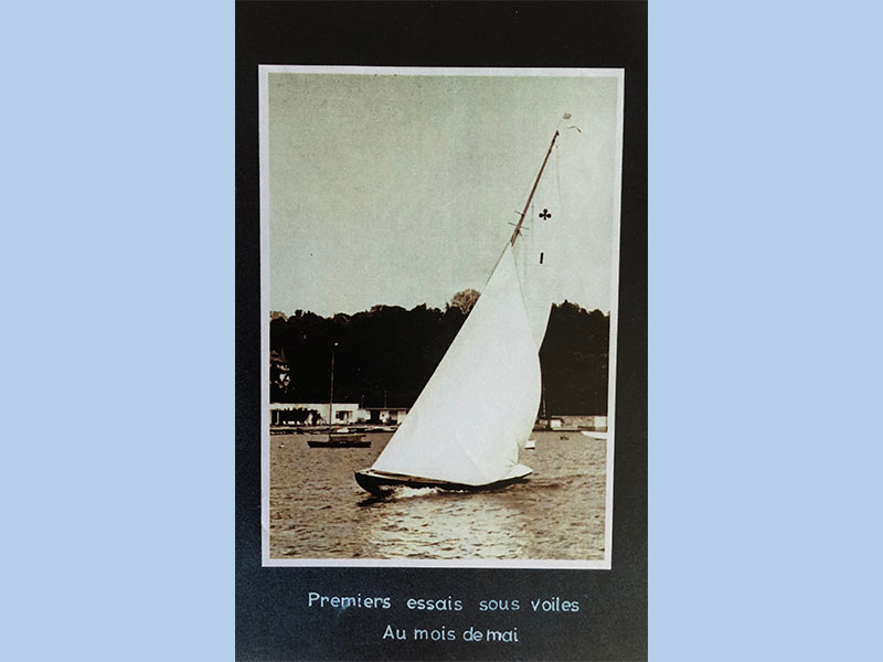 Premiers esssais sous voiles, Au mois de mai. Foto Archives Copponex