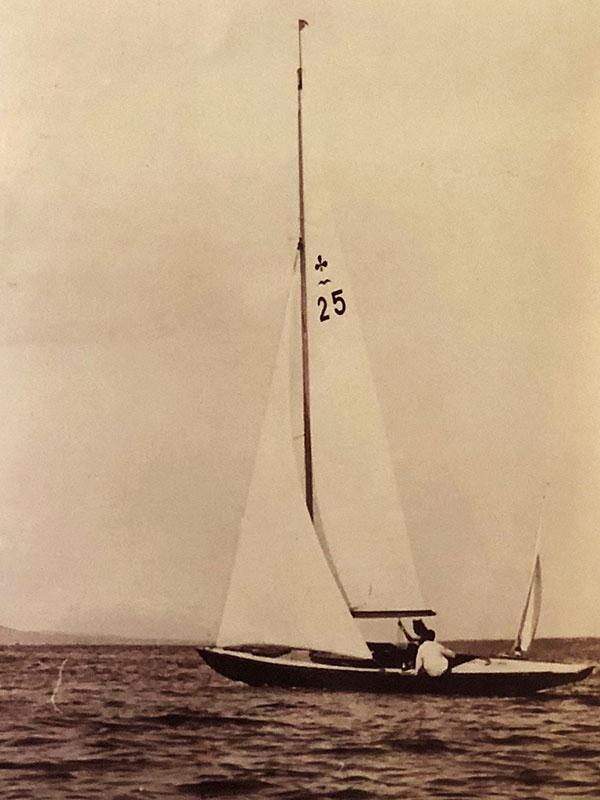 Z25 Patrizia an der Semaine de la Voile 1942. Foto Archives Copponex.