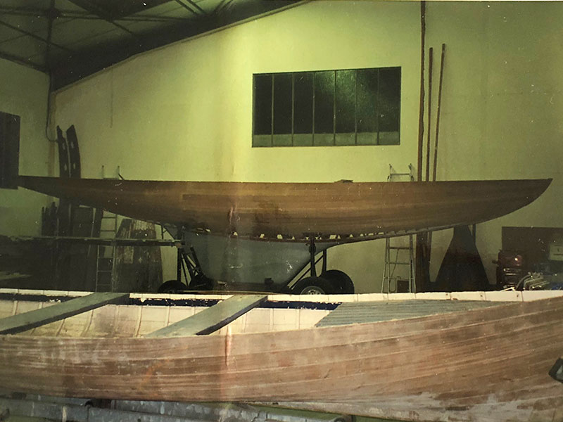 Z3 beim Bootsbauer 1996. Foto Archives Copponex.