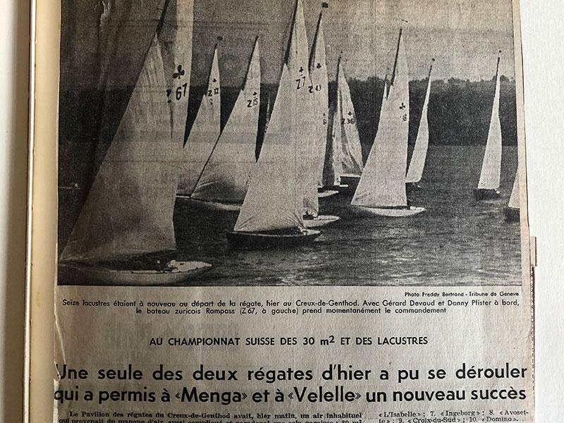 """Bericht über Creux de Genthod (Jahr??) in """"Tribune de Geneve"""". Archives Copponex."""